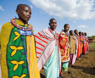 Maasai people with traditional jewelry
