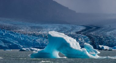 Blue ices of  glacier