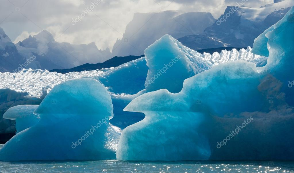 Blue ices of  glacier