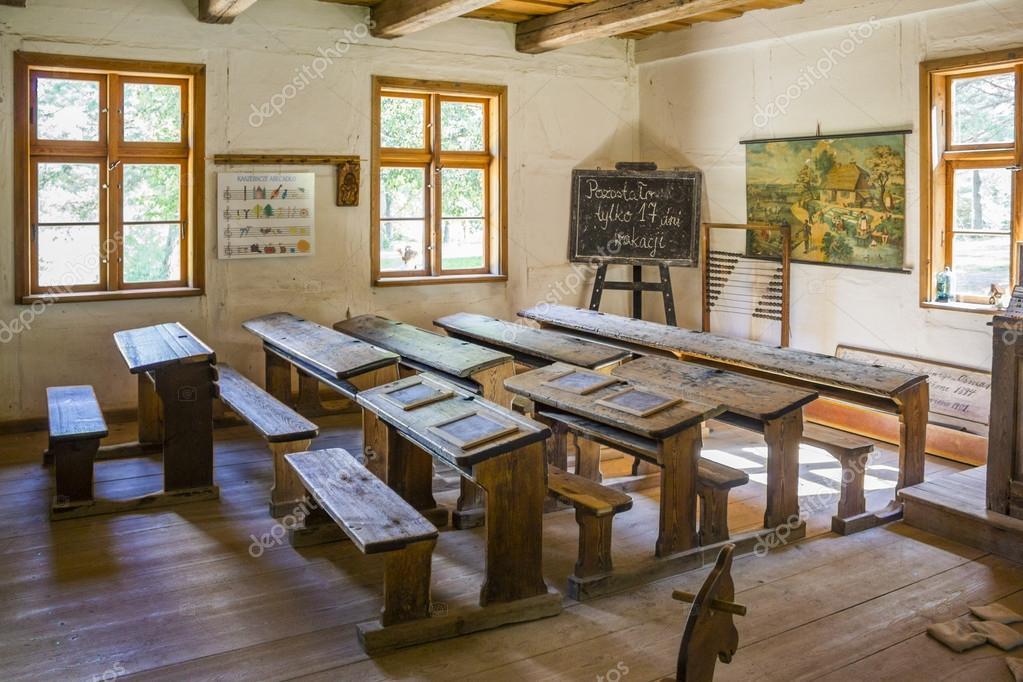Innenraum der alten Schule — Redaktionelles Stockfoto ...