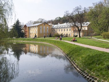 Sanatorium in the spa park - Naleczow, Poland
