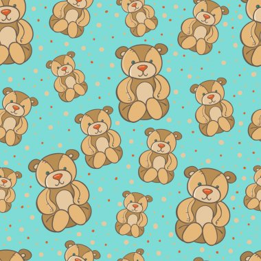 seamless bears pattern.