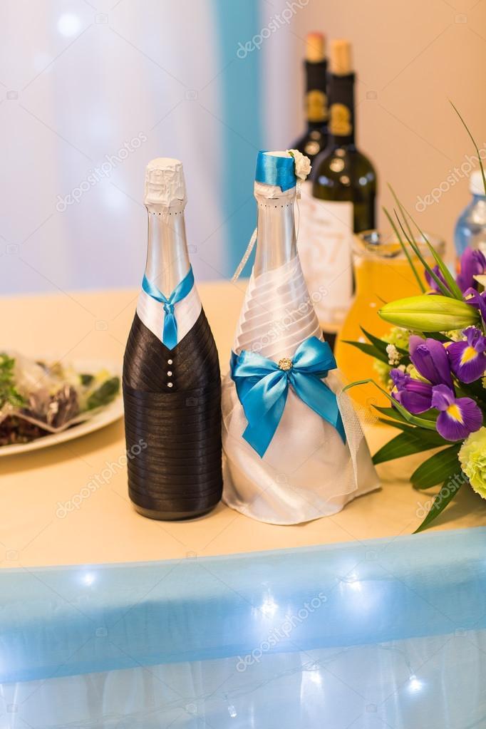 d coration bouteille mariage de champagne photographie satura 106153678. Black Bedroom Furniture Sets. Home Design Ideas