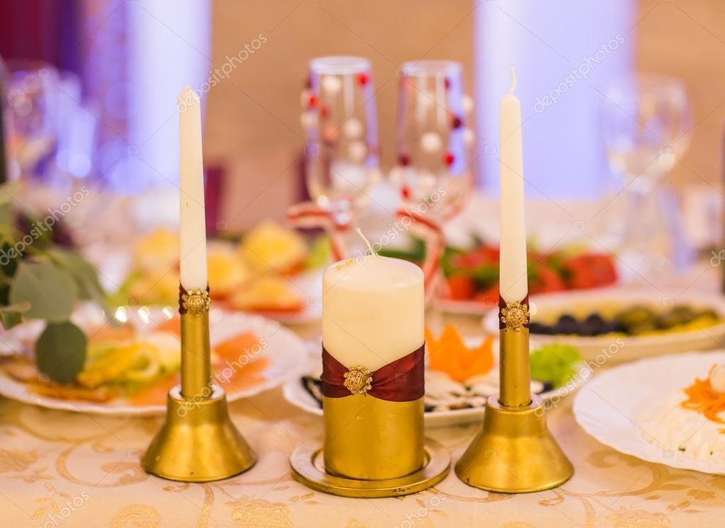 Svatebni Dekorace Svicky Stock Fotografie C Satura 106184378