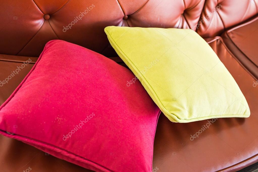 Naturalne Tkaniny Dekoracyjne Poduszki Zdjęcie Stockowe