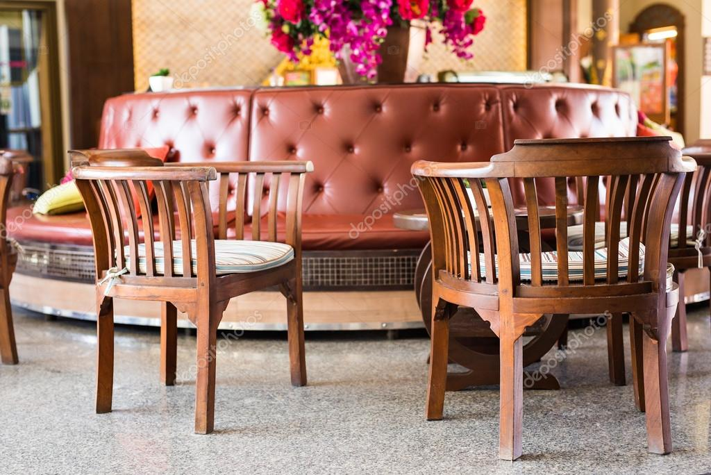 fauteuils met kussens, interieur stijl — Stockfoto © Satura_ #112569210