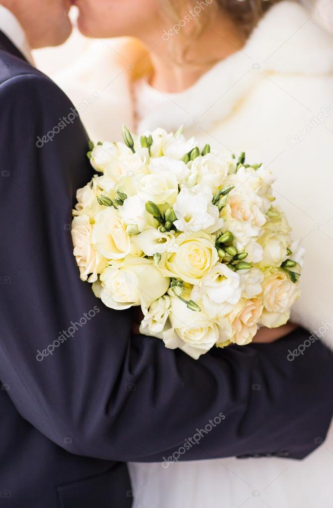 Winter Hochzeitsstrauss Stockfoto C Satura 121671396