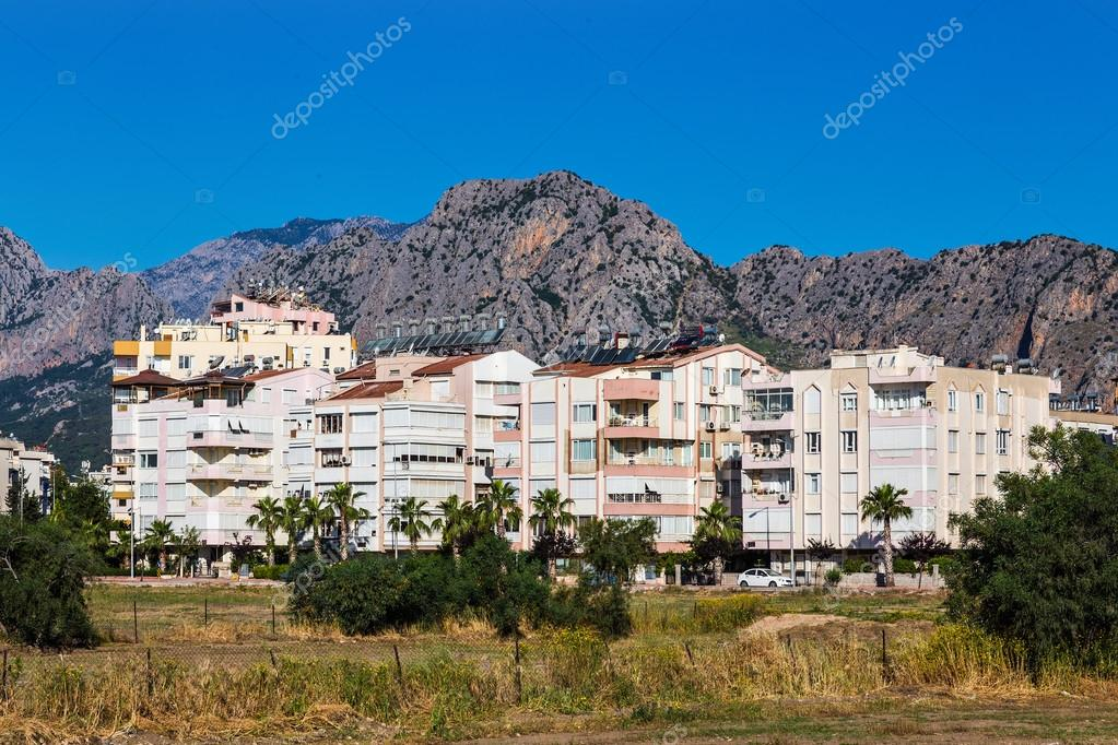 Village near the mountains