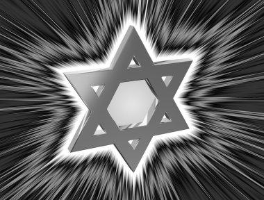 among the rays Star of David