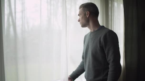 Depressed Man at Window (4 of 9)