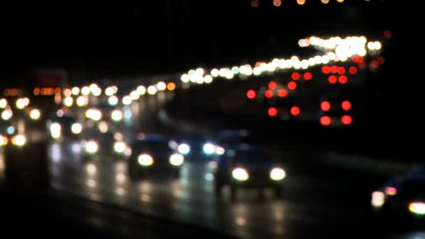 Highway provozu v noci