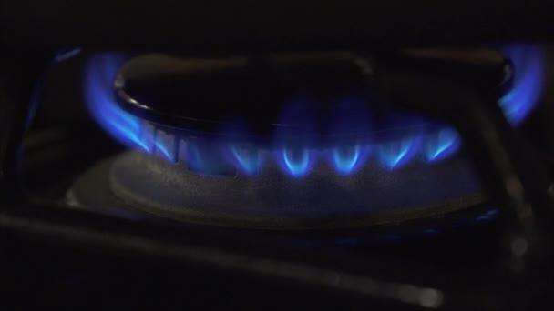 Plynové Kamna hoří