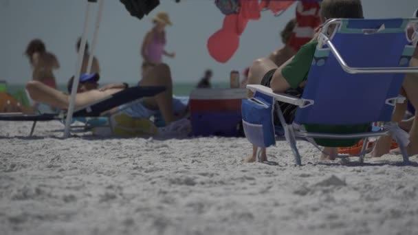 Scéna na typické beach Florida