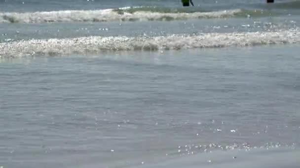 Scéna z lidí těší Florida beach