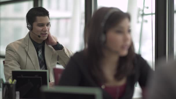 Scene from a customer support or call center