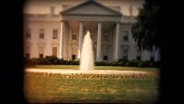 Blick auf das Weiße Haus in der Mitte 1960er Jahre