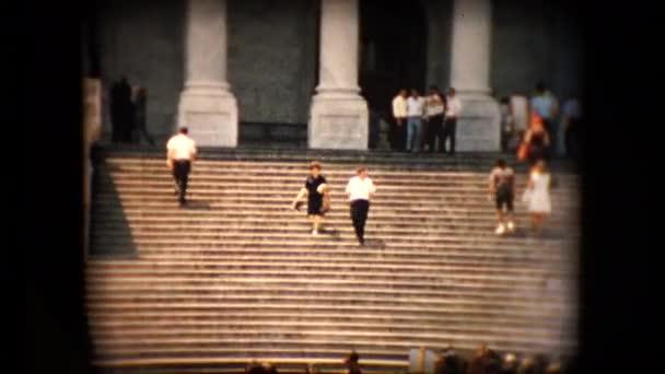 Blick auf das Kapitol Gebäude Schritte in den Mitte 60er Jahren