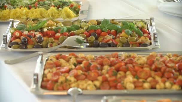 delicious food at the buffet