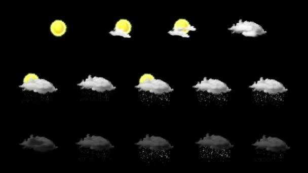 počasí animovaný sady ikon