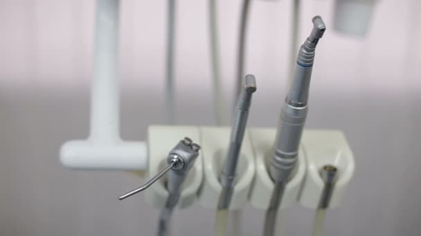 different dental instruments and tools in a dentists office stock