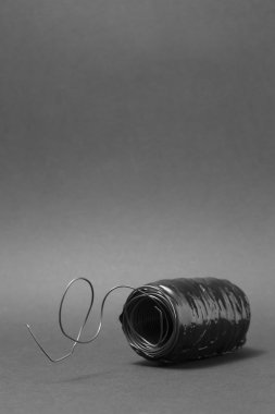 Metal Wire On a grey background