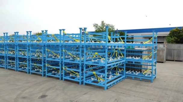Warehouse storage Auto parts heavy duty trolley