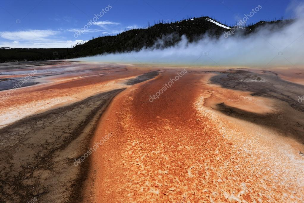 Geyser with lovely surroundings