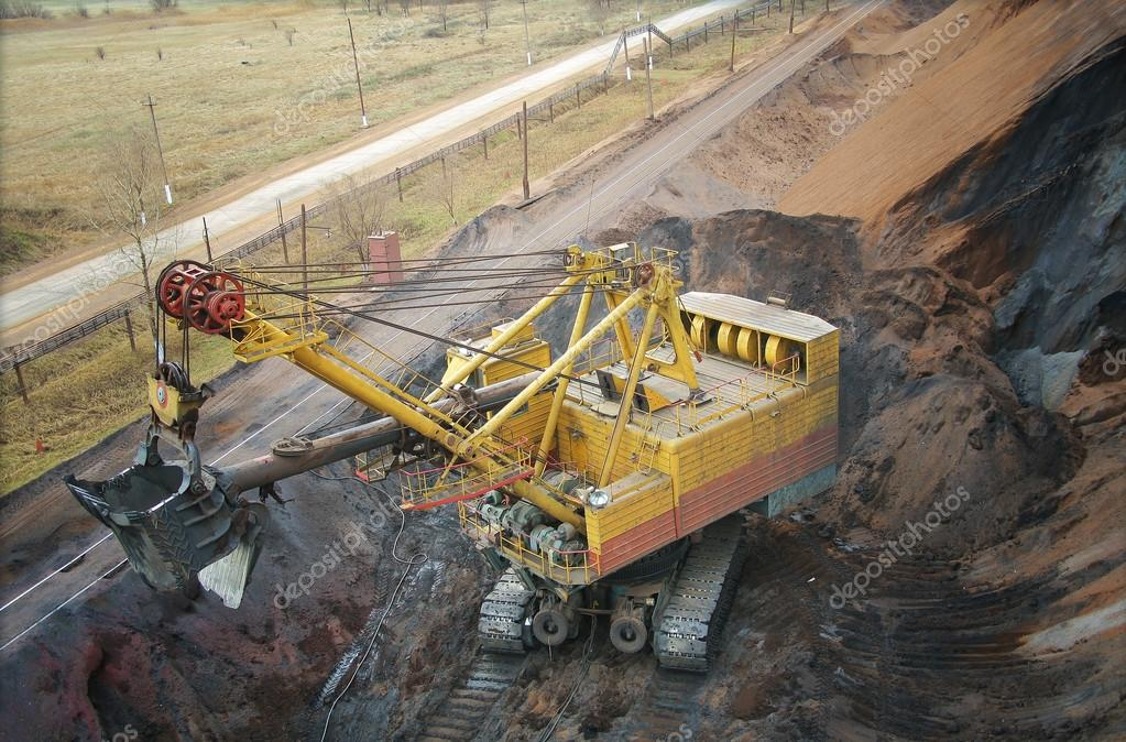 large electric excavator in a quarry