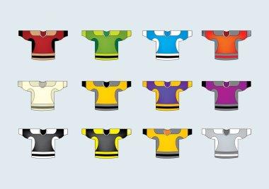 Ice hockey jerseys set of 12