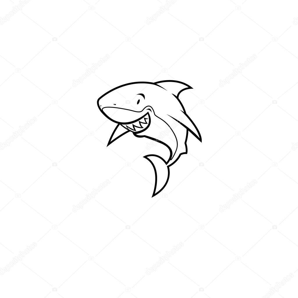 Coloring book shark — Stock Vector © mangulica #69824281
