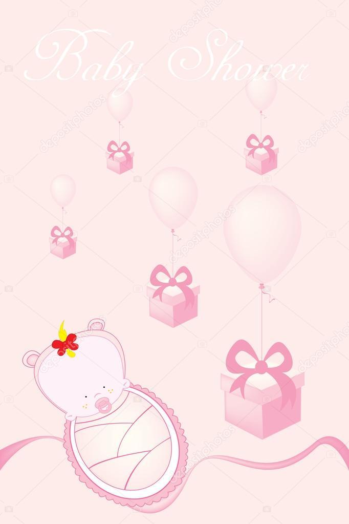 Tarjeta De Invitación Para Baby Shower Archivo Imágenes