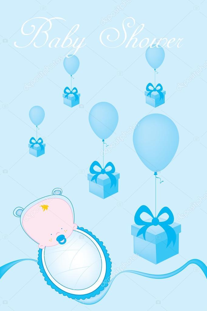 Tarjeta De Invitación Para Baby Shower Vector De Stock