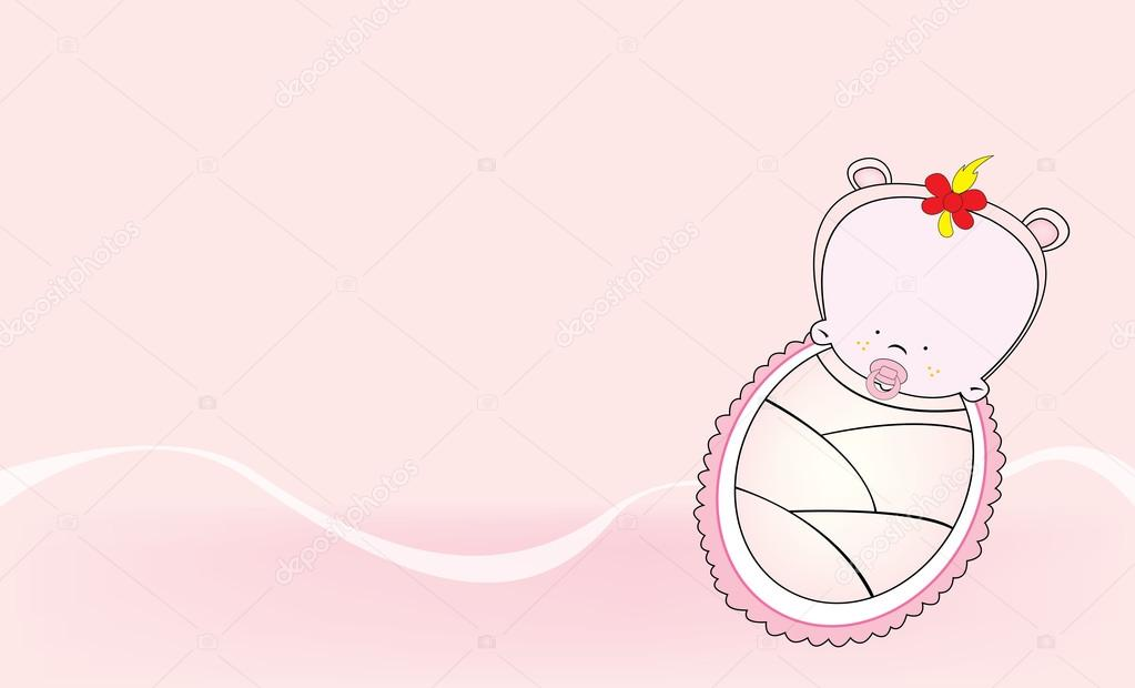 Karta Zaproszenie Baby Shower Grafika Wektorowa