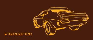 interceptor car drawing