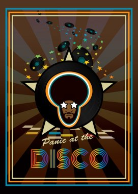 Disco party retro poster