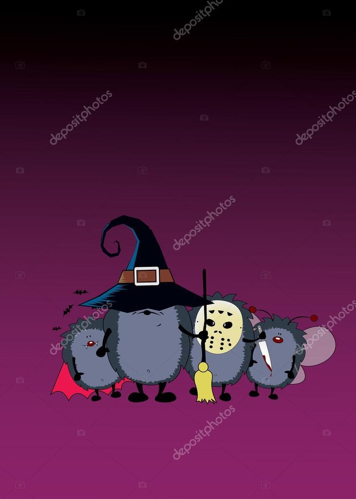 Equipo del partido de Halloween — Vector de stock © mangulica #85449902