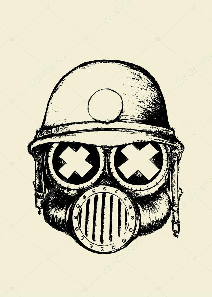 Dibujos: casco de guerra dibujo | Cráneo de guerra con casco ...