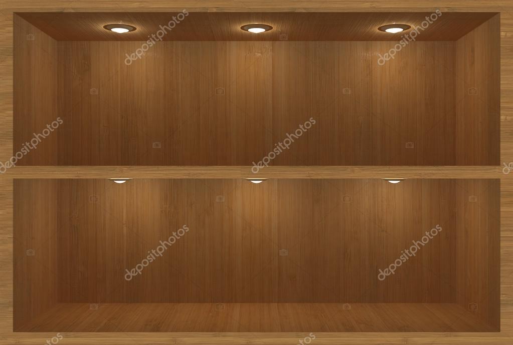 Mensola in legno con illuminazione u2014 foto stock © bohdan katya #70214655