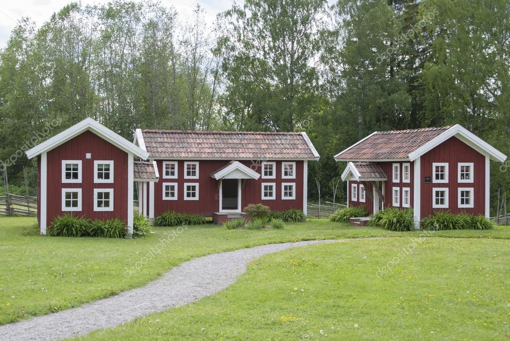 Cottages For Childrens Playground Modeled On Traditional Swedish - Traditional swedish homes