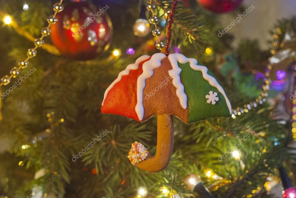 Kerstmis Peperkoek In De Vorm Van Een Paraplu Stockfoto C Anakul