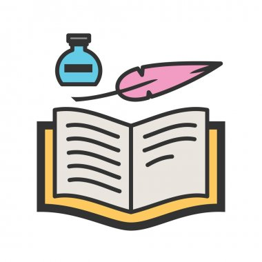 Quill and Book icon