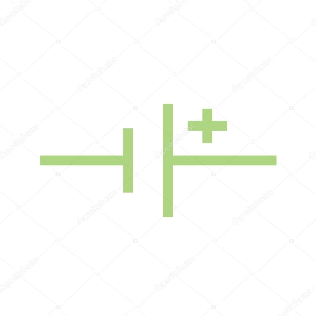 DC-Spannungsquelle-Symbol — Stockvektor © dxinerz #105442698