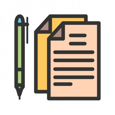 Documents and Pen icon