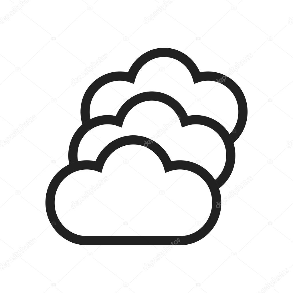 Multiple Cloud Servers icon