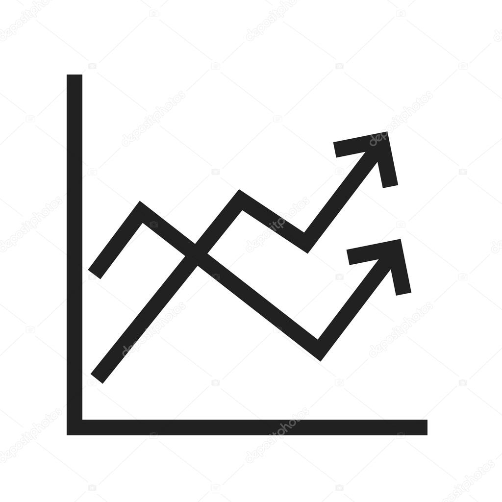multiple line graph icon — stock vector © dxinerz #109239288
