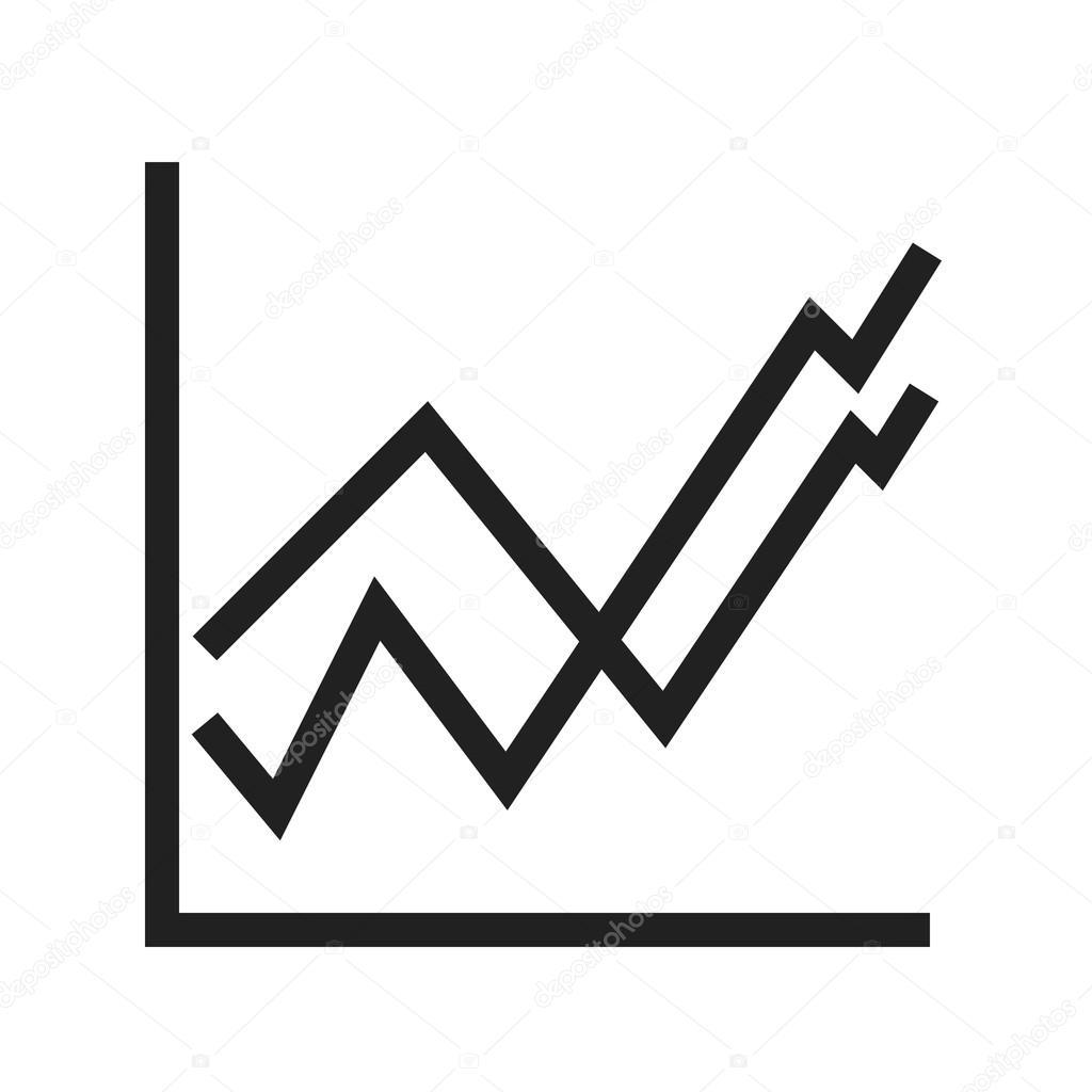 グラフ アイコンで上昇傾向– ストックイラスト