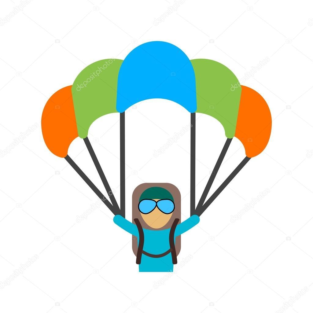 Parapente parachute ic ne image vectorielle dxinerz - Parapente dessin ...
