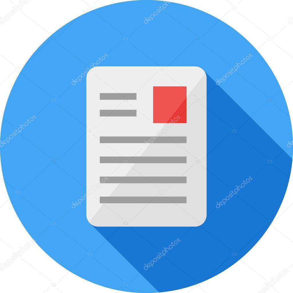 article document icon � stock vector 169 iconbunny 76334697