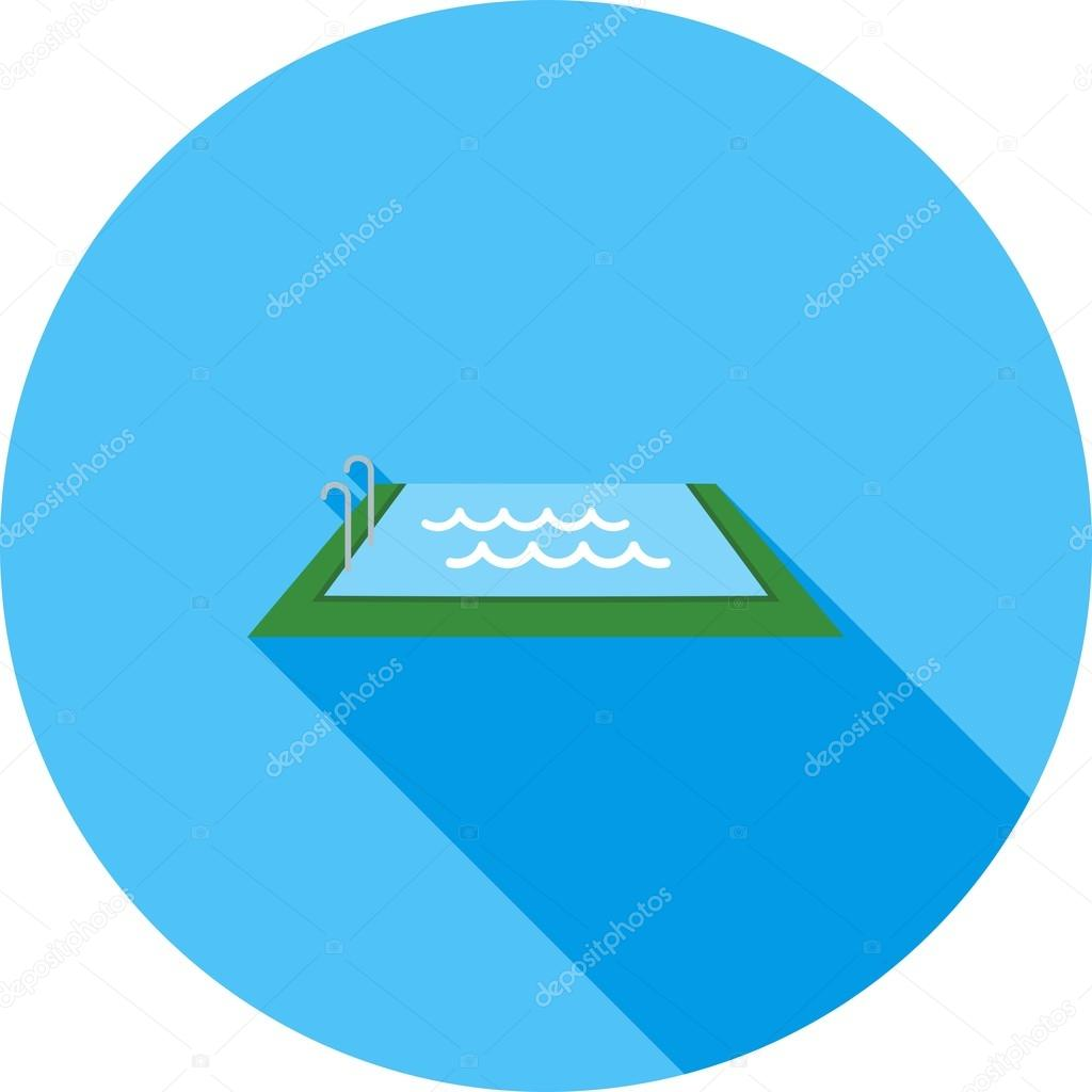 Swimming pool icon — Stock Vector © dxinerz #76336623