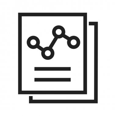 Reports, business statistics Icon
